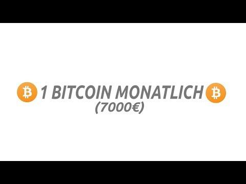 1 Bitcoin im MONAT (Bitcoins EINFACH und SCHNELL fahrmen)