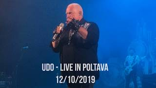 UDO Live In Poltava 12 10 2019 Steelfactory World Tour 2019