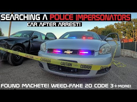 Searching A Police Impersonators Chevy Impala after Arrest! Crown Rick Auto