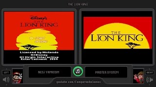 The Lion King (Nes vs Master System) Side by Side Comparison
