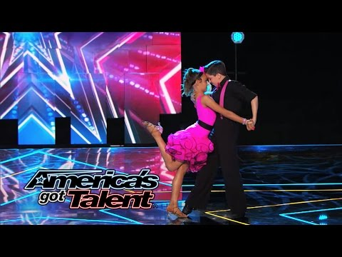 """Carter & Anika: Young Partners Dance to """"Let's Get Loud"""" - America's Got Talent 2014"""