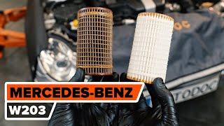 Hoe een oliefilter en motorolie vervangen op een MERCEDES-BENZ W203 C-Klasse [HANDLEIDING AUTODOC]