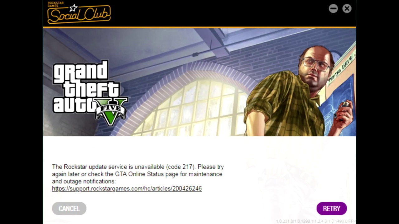 GTA 5 Rockstar Games update Error code 216 and code 217 FIX