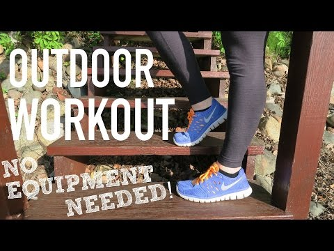 Staying Fit on Vacation + Outdoor Workout | VLOG