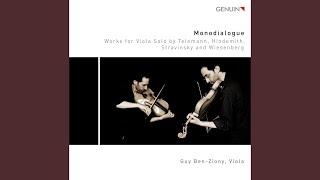 Viola Sonata, Op. 25 No. 1: I. Breit Viertel