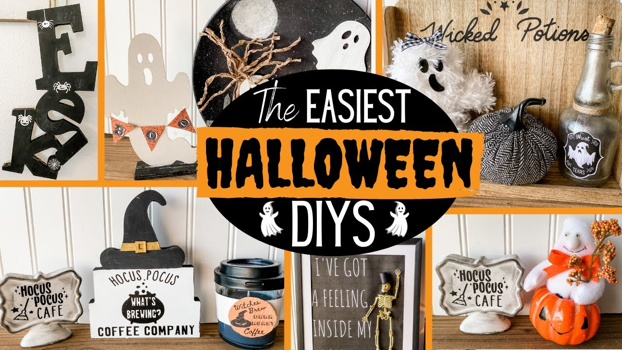 👻 Easy DOLLAR TREE Halloween Fall DIYS
