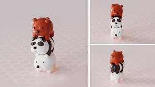 One of PuddingFishCakes's most viewed videos: Stack of Bears Polymer Clay Tutorial | We Bare Bears #bearstack