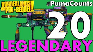 Download lagu Top 20 Best Legendary Guns and Weapons in Borderlands The Pre Sequel PumaCounts MP3