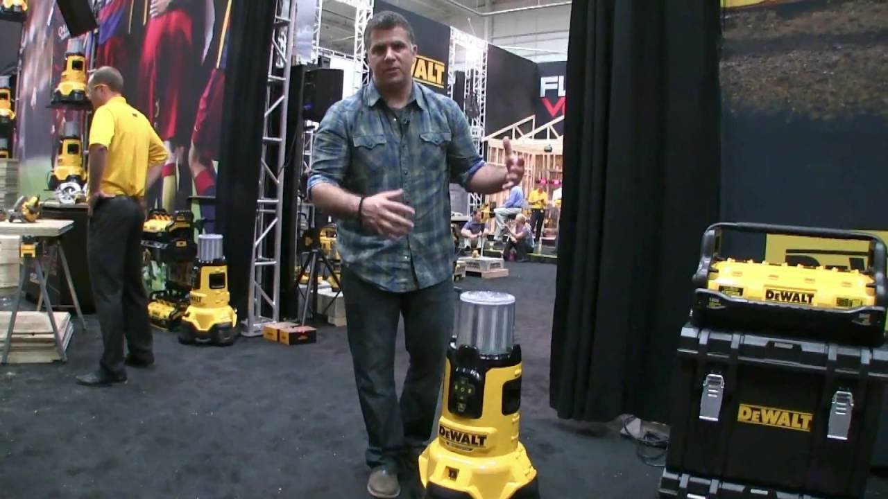 A Cordless Area Light And Charger From Dewalt Youtube