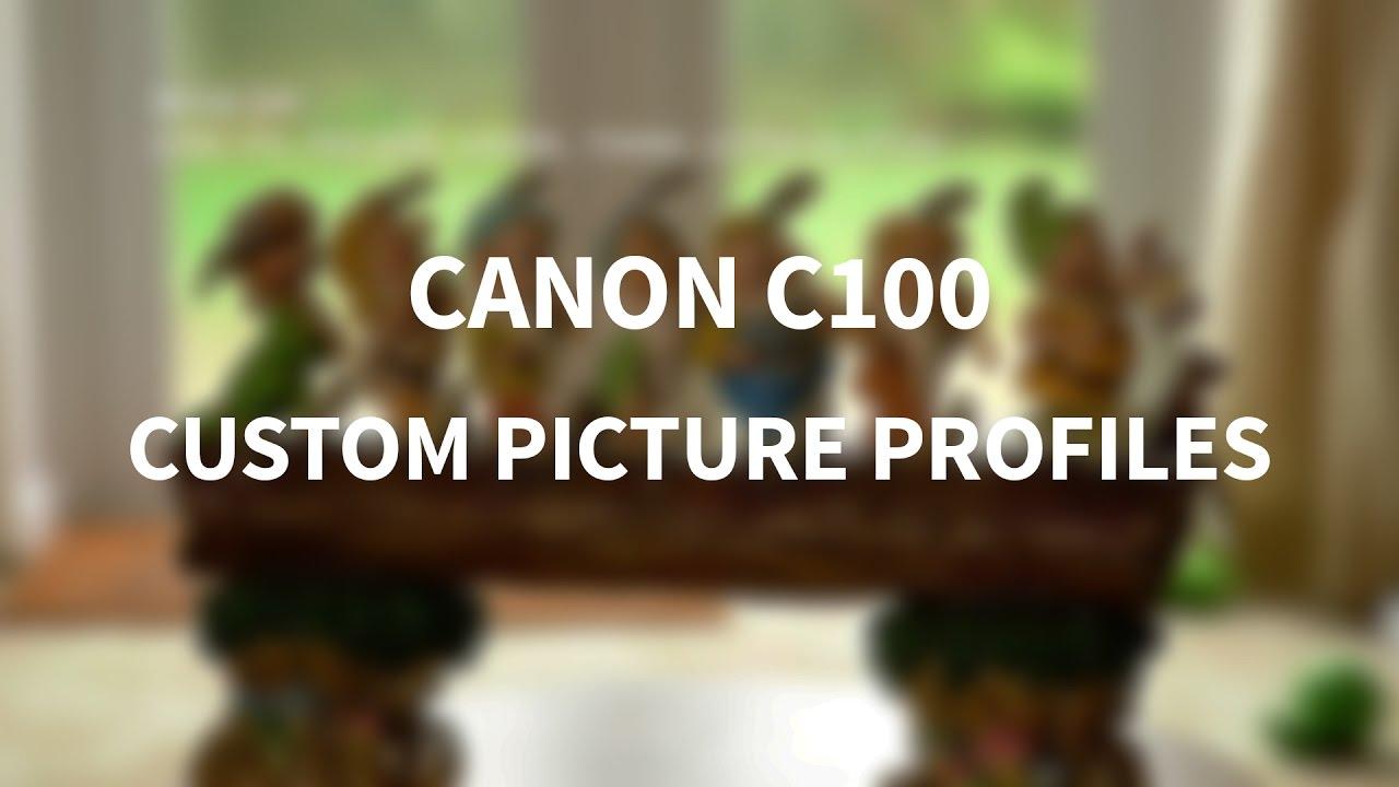 Canon C100 Picture Profiles - YouTube