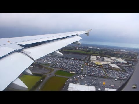 ✈ STRONG WIND! A320 Aer Lingus smooth landing in Dublin [HD]