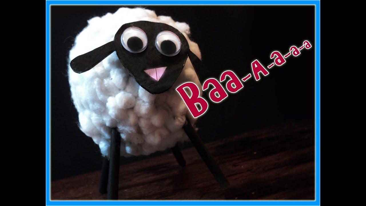 Manualidades oveja de algodon para ni os por georgio - Como hacer una oveja ...