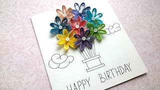 How to Make Quilling Birthday Balloon Cards - Quick Birthday Balloon Cards