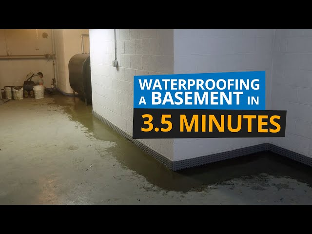 Basement Waterproofing in 3.5 Minutes | Block Wall Foundation in Norwalk, CT