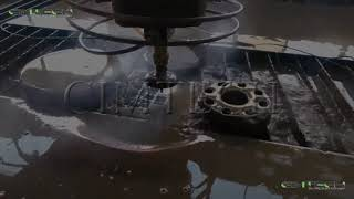 High pressure cnc water jet cutter, 4 axis metal cutting machine