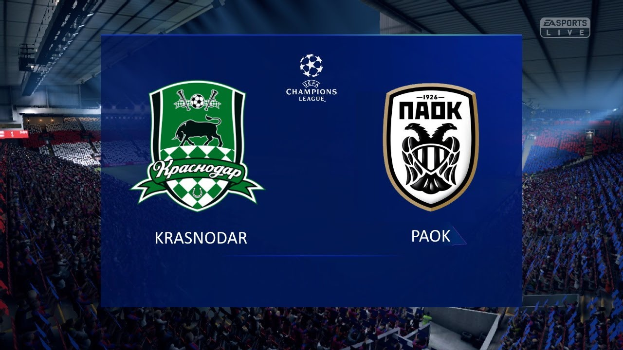 Krasnodar Paok Uefa Champions League 2020 2021 Play Off Round Youtube