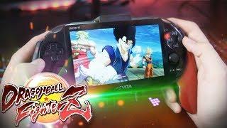 Jugando Dragon Ball FighterZ en la PS VITA!