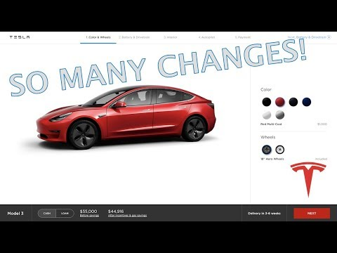 MODEL 3 CONFIGURATOR CHANGES AND NEWS!!!