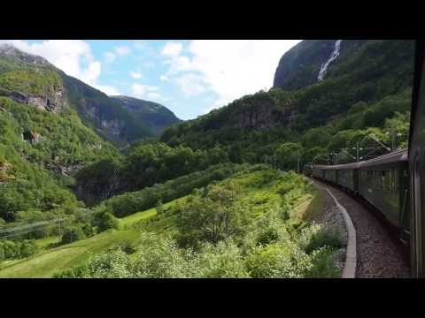 Amazing view from the Flåm Railway from Flåm to Myrdal in Norway