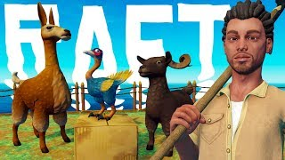 Man Builds Noah's Ark, But The Animals Hate Him - RAFT Domestication Update - RAFT Gameplay