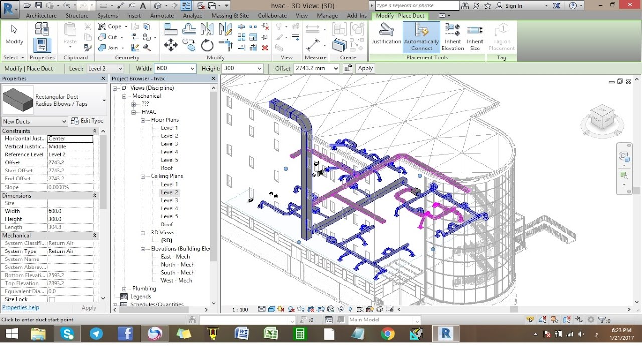 Creating Hvac System Revit Arabic Youtube Drawing Of