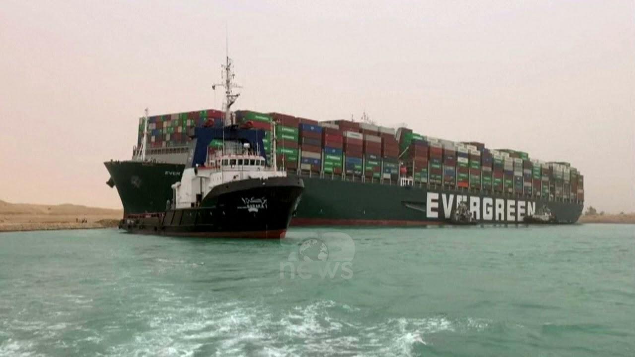 Download Top News - Anija që bllokoi kanalin e Suezit/ Ndodhi çudia, një shkulm ere i ndryshoi drejtimin