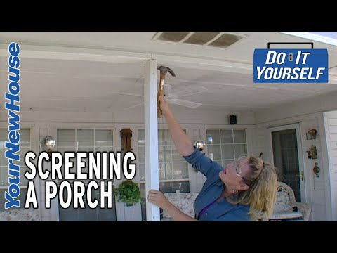 Screening in a Porch - Do It Yourself