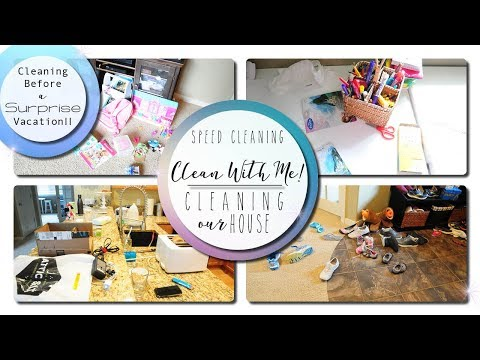 Clean With Me! - Speed Cleaning -Cleaning my House...before vacation?!!