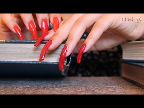ASMR : flipping pages/book's pages/old books/ tapping & scratching/ TINGLES with myLongNaturalNails