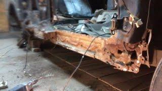 Ремонт  ржавого автомобиля DADI.Делаем днище и пороги.