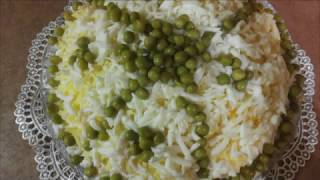 Шпротный салат/Sprat salad