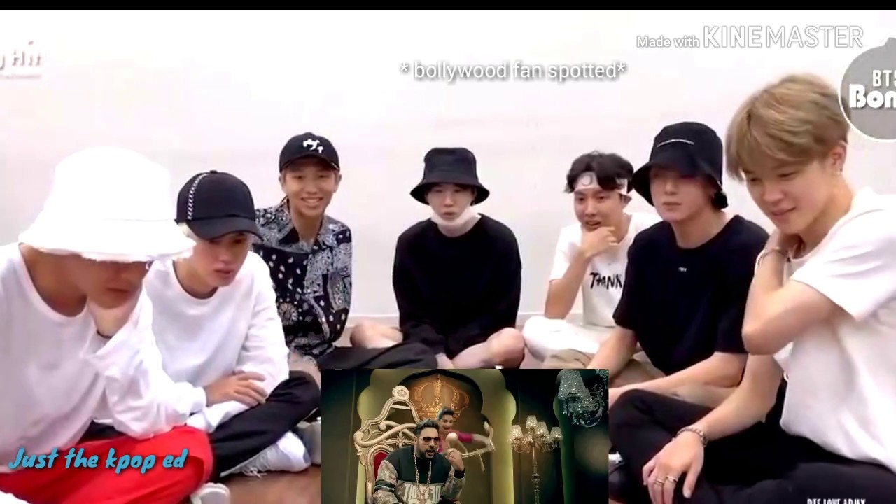 BTS reaction to Bollywood song🔥Badshah 💥Bangtan Bomb @110618