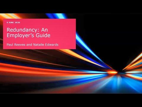 Redundancy: An employer's guide
