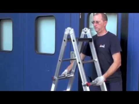 Сборка и краткий обзор лестницы ALUMET Т433. - YouTube
