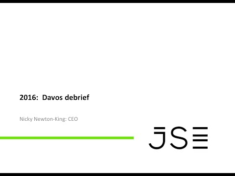 JSE Power Hour: Nicky Newton-King report back on Davos 2016