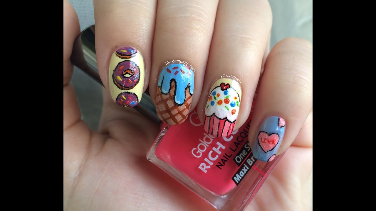 Ice Cream Nails: Douhgnut Nails, Cupcake Nails, Ice Cream