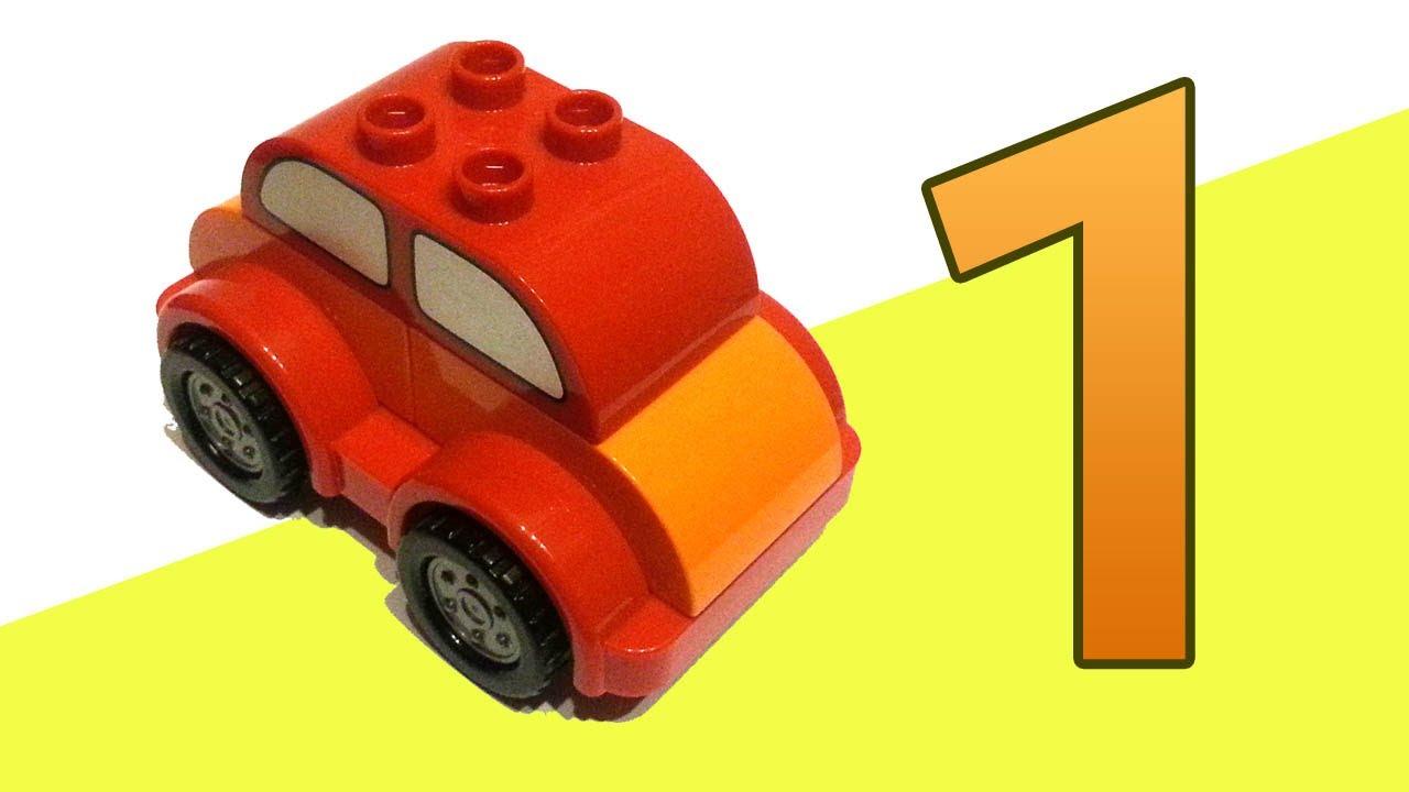 Машинка учит цифры в городе Лего. Цифра 1 (единица). - YouTube