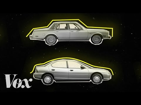How cars went from boxy to curvy