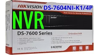 £125 Unboxing POE Hikvision NVR CCTV 4K Network Video Recorder UHD 4 Channel Recorder 8MP Support