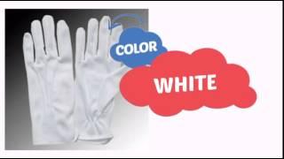Small White Costume Gloves w/ Elastic Wrist - ClownAntics.com