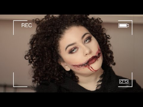 Halloween makeup Tutorial | Chelsea smile/Joker smile - YouTube