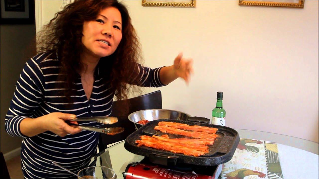 Spicy pork korean food recipe