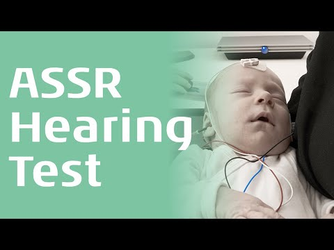 A screenshot of the Introduction to ASSR webinar by Interacoustics Academy