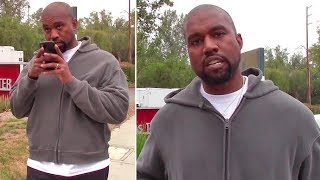 exclusive kanye west interrupts phone call with kim kardashian to speak with paparazzo