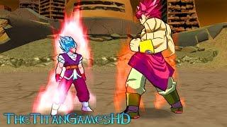 Dragon Ball Z Shin Budokai 2 Mods - Goku Absalon Super Saiyan Blue Kaioken X10