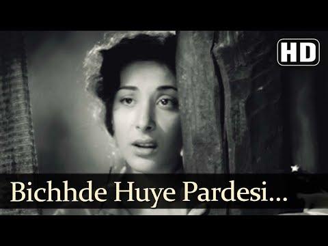 Nargis Popular Song - Bichhde Huye Pardesi - Barsaat (1949) - Raj Kapoor - Popular Hindi Song