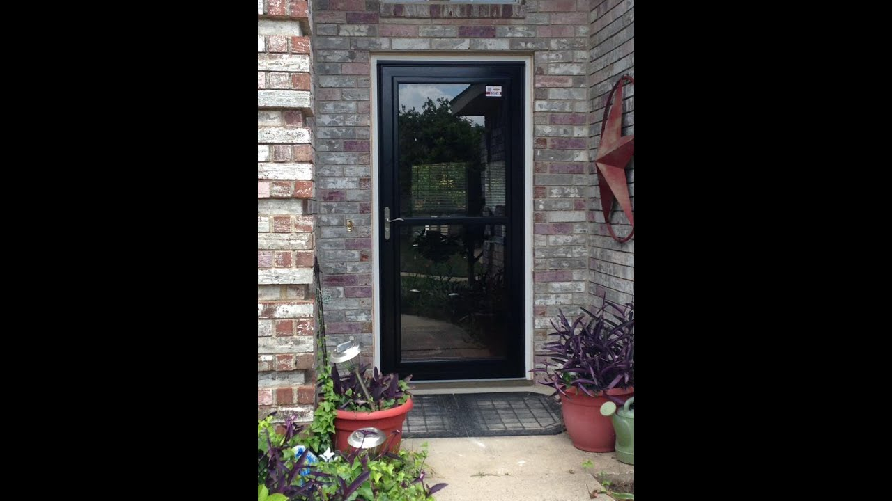 Our experience with lowes on 2 exterior door for Front door with storm door