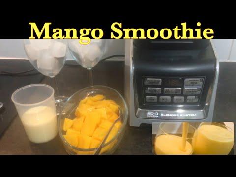 Creamy Mango Smoothie // Auto IQ Nutri Ninja Blender