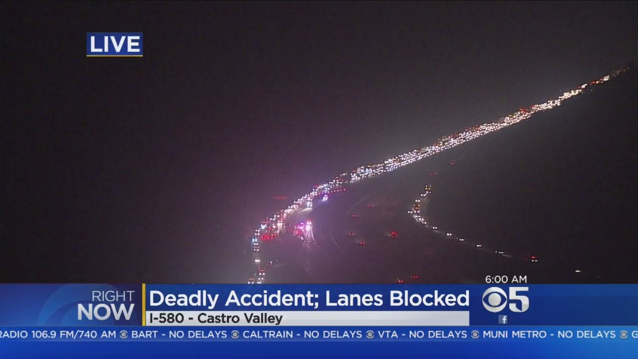 WB 580 BACKUP: Fatal big rig accident backs up 580 in Castro Valley