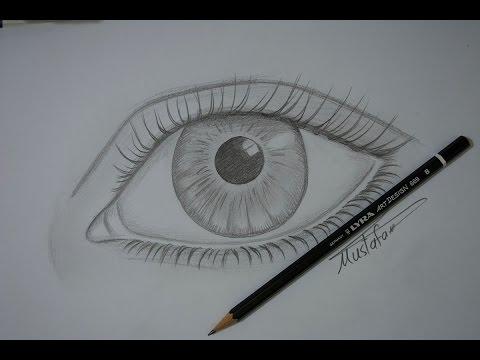 تعلم رسم العين بالرصاص للمبتدئين مع الخطوات Youtube